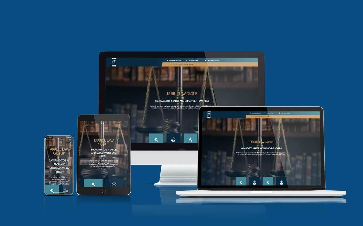 Farrell Law Group - Designed by Shaka Web Design Services