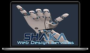 Shaka Web Design Services - Laptop Mock up - Award Winning Design