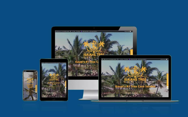 Isaiah's Tree Service - Shaka Web Design Services - Recent Build
