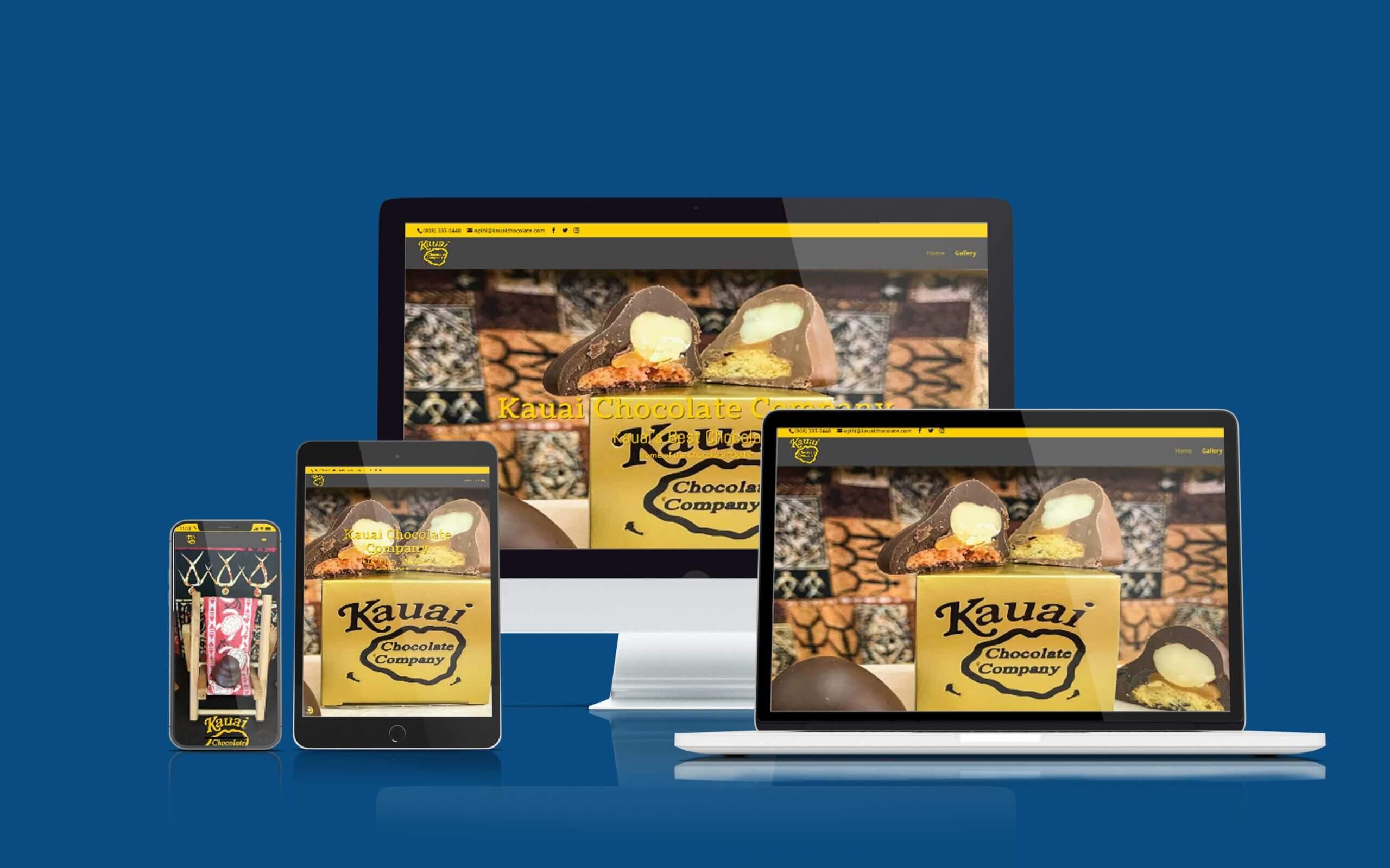 Recent Shaka Web Design Services Website Build - Kauai Chocolate Company