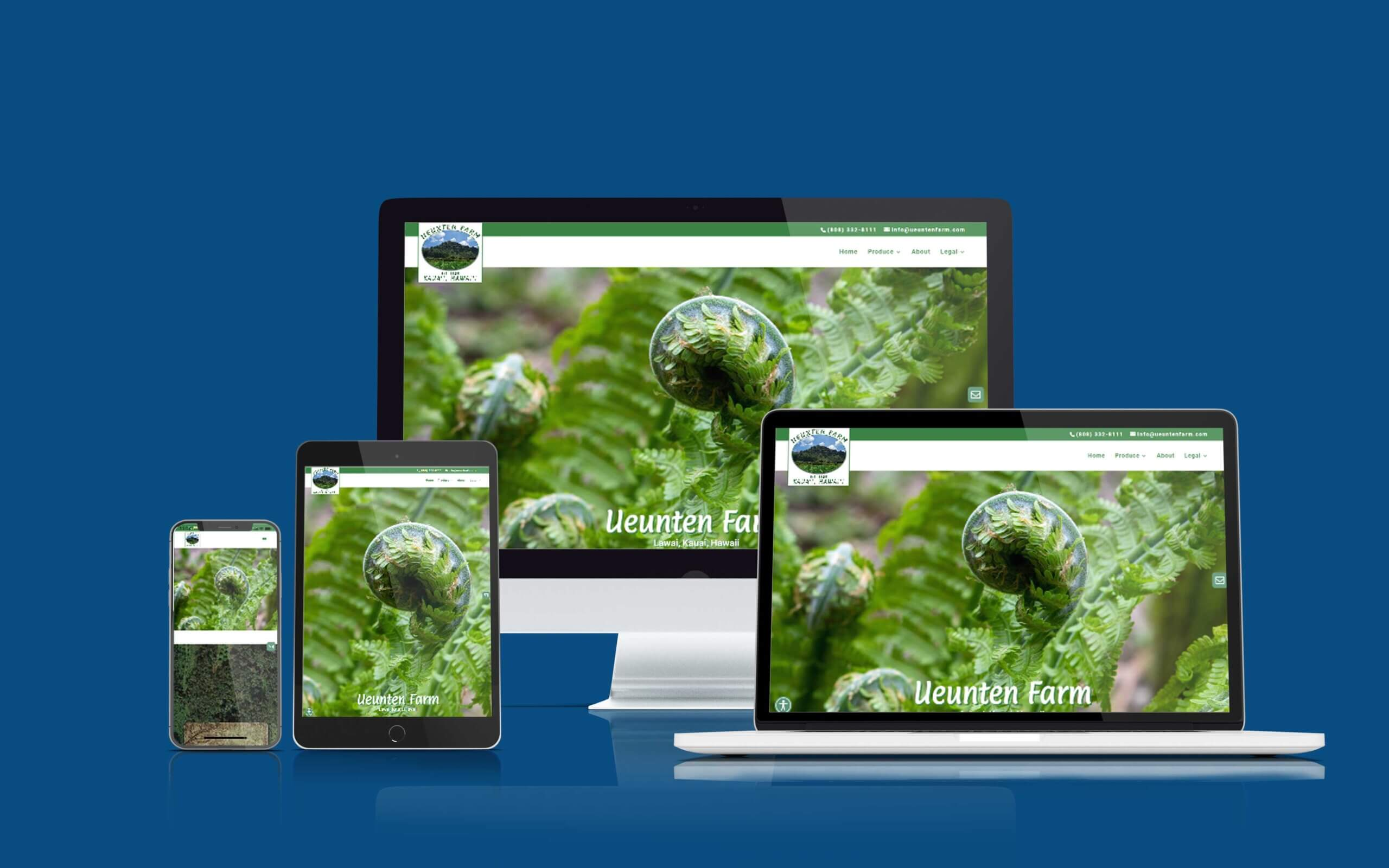 Recent Shaka Web Design Services Website Build - Ueunten Farm