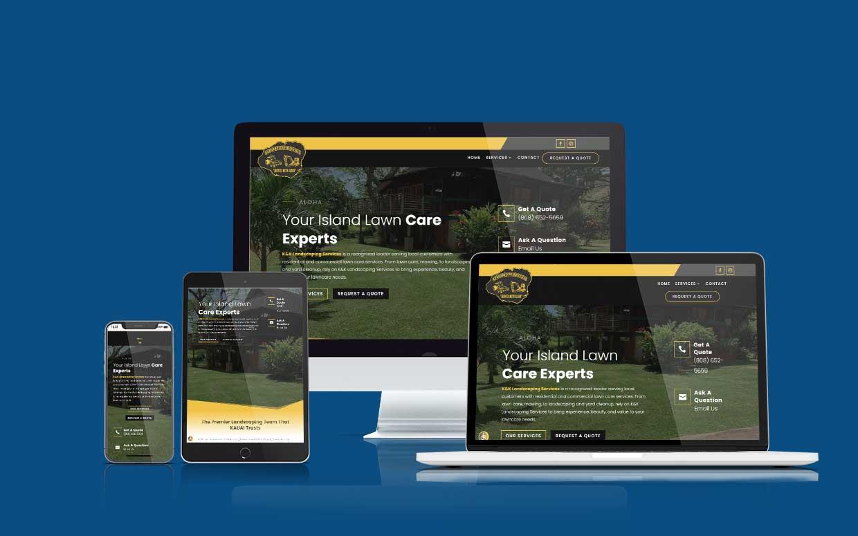 Recent Shaka Web Design Services Website Build - K&K Landscaping Services