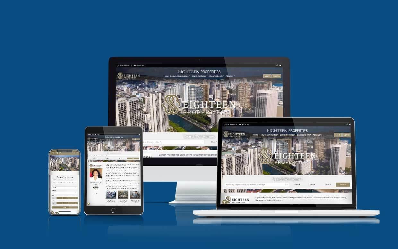 Recent Shaka Web Design Services Website Build - Eighteen Properties
