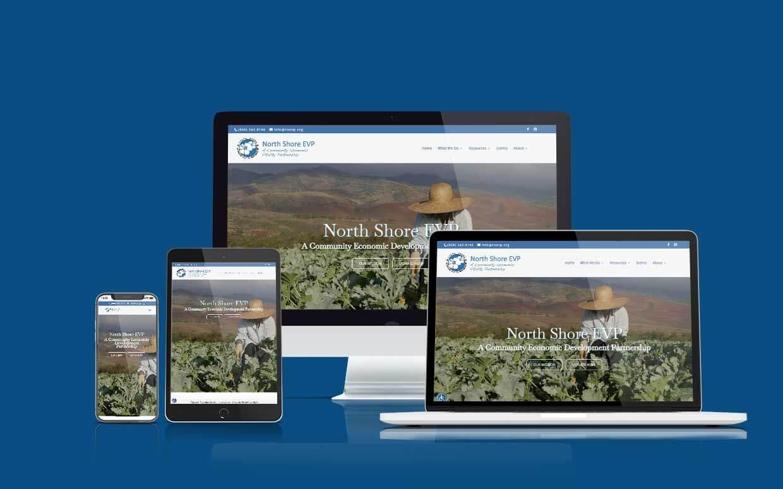 Recent Shaka Web Design Services Website Build - North Shore EVP