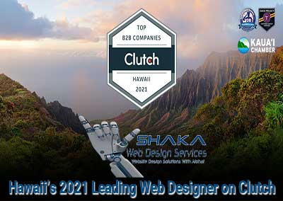 Shake Web Design Services Honored as Hawaii's 2021 Leading Web Designer on Clutch