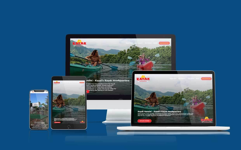 Kayak Hanalei Website Designed by Shaka Web Design Services